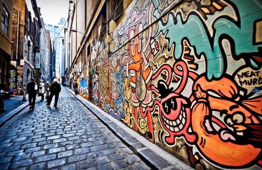мельбурн стрит арт