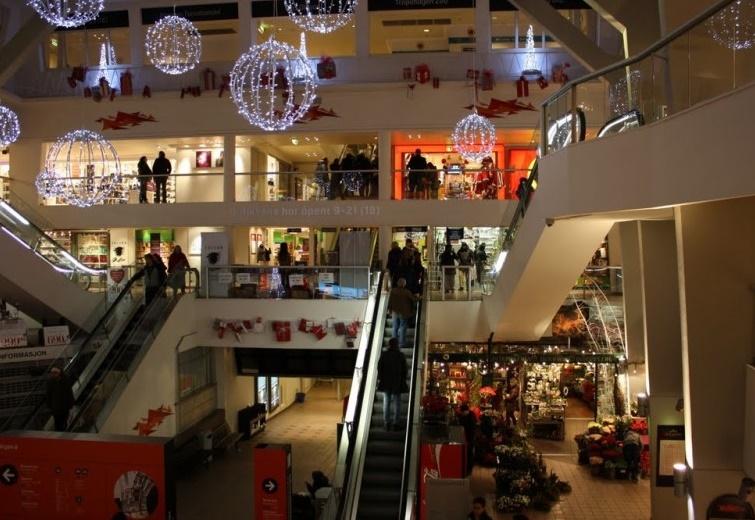 Берген торговый центр
