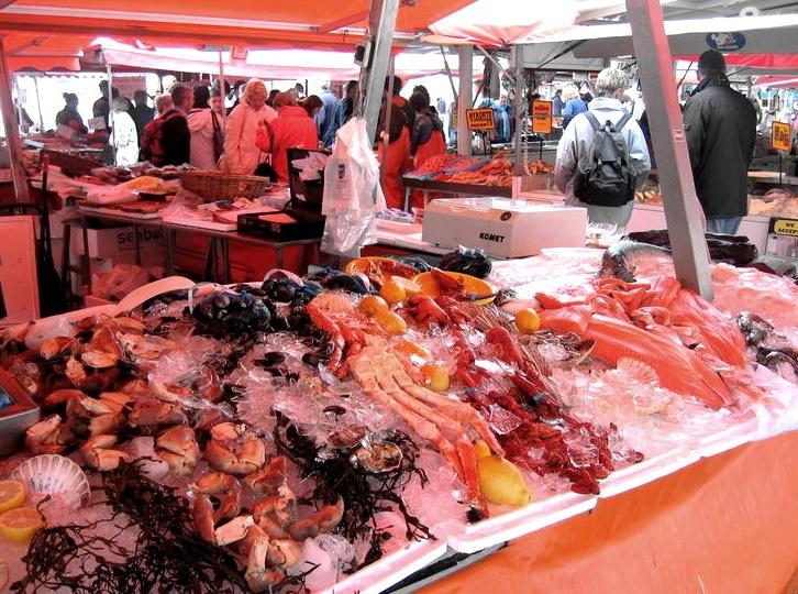 Олесунн рыбный рынок